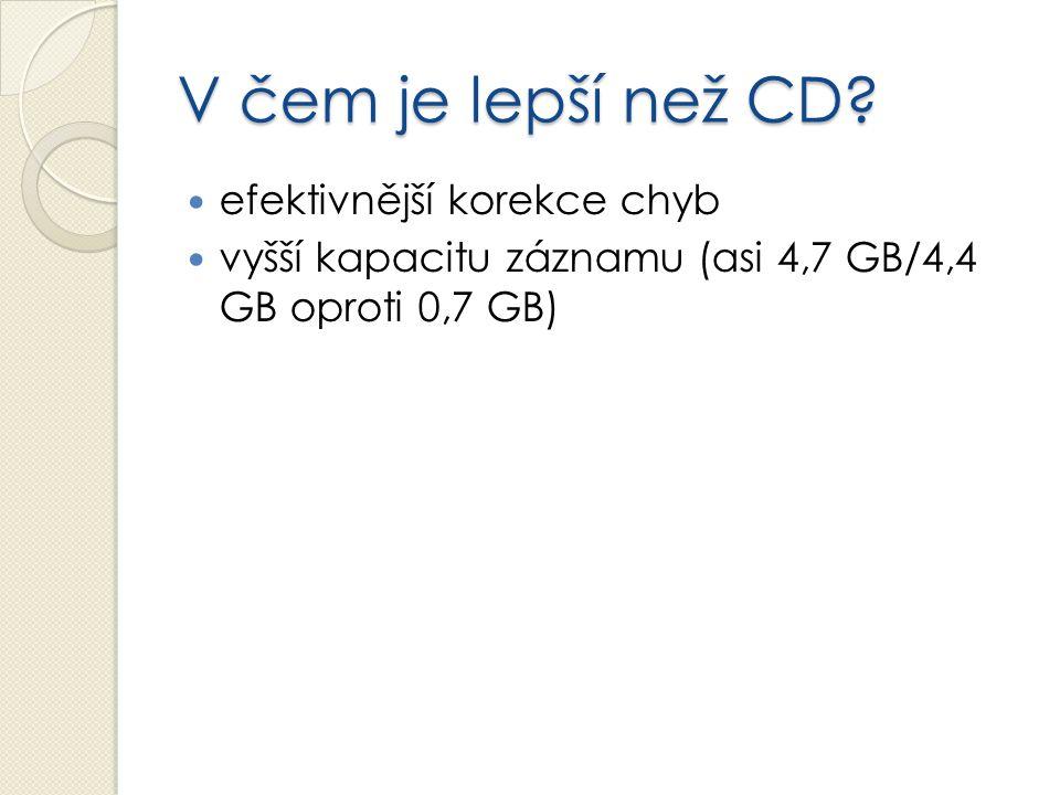V čem je lepší než CD efektivnější korekce chyb