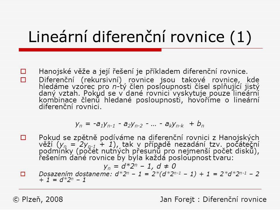 Lineární diferenční rovnice (1)