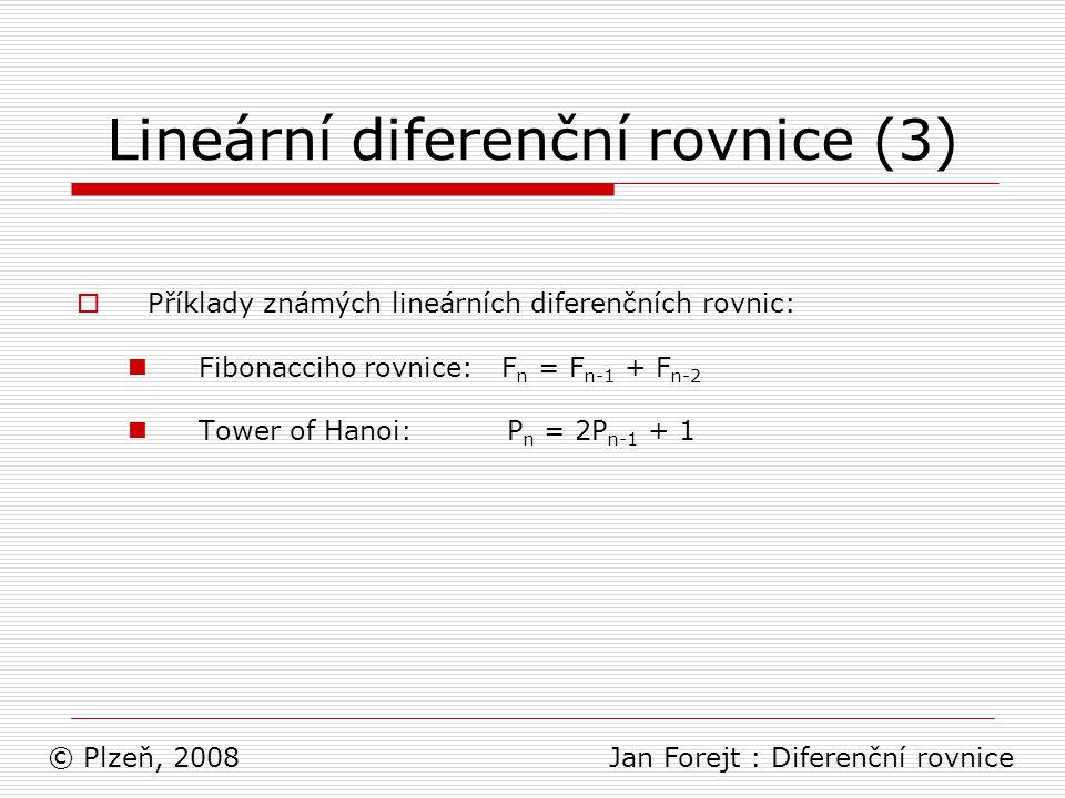 Lineární diferenční rovnice (3)