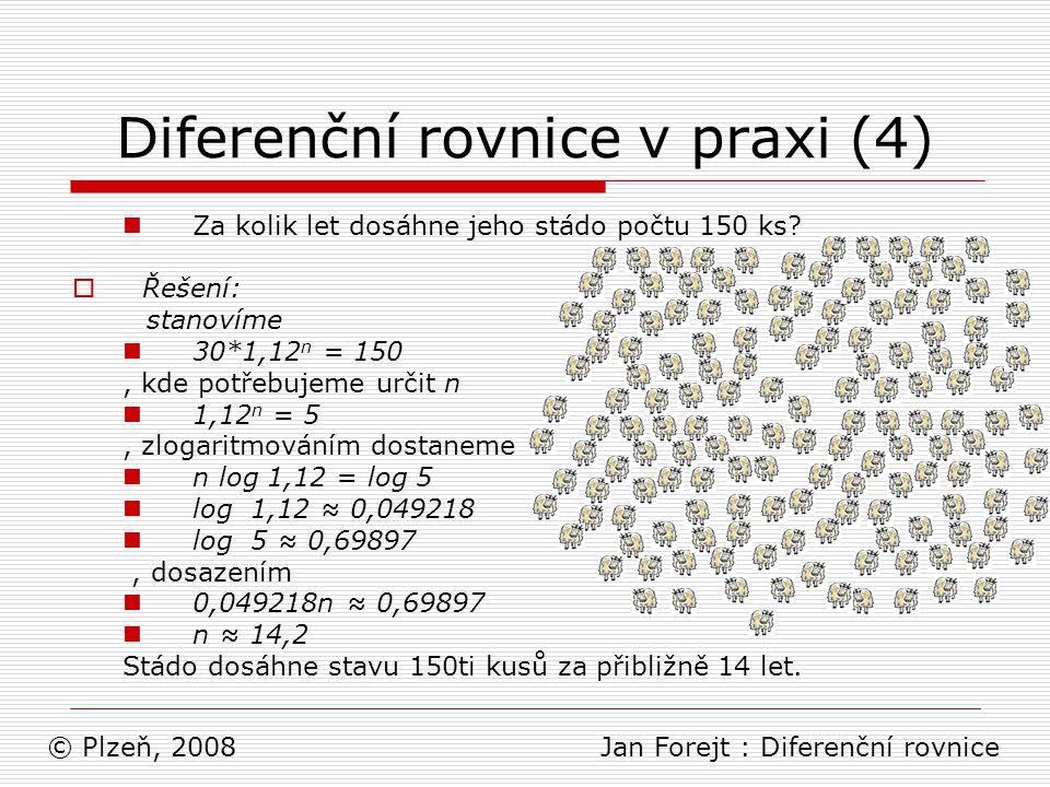Diferenční rovnice v praxi (4)