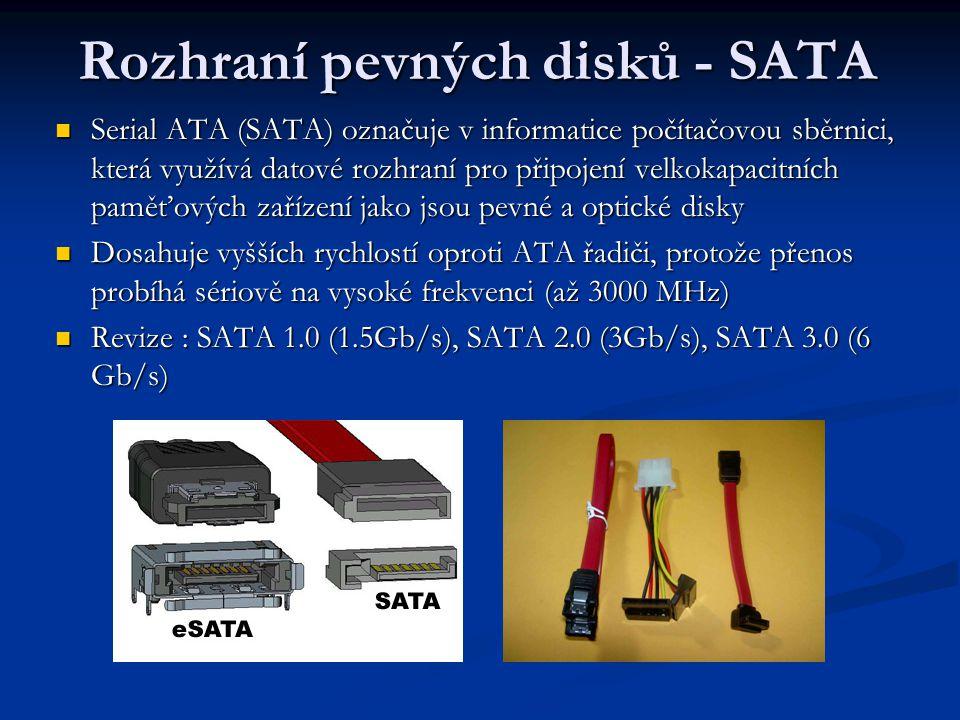Rozhraní pevných disků - SATA