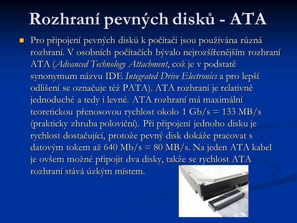Rozhraní pevných disků - ATA