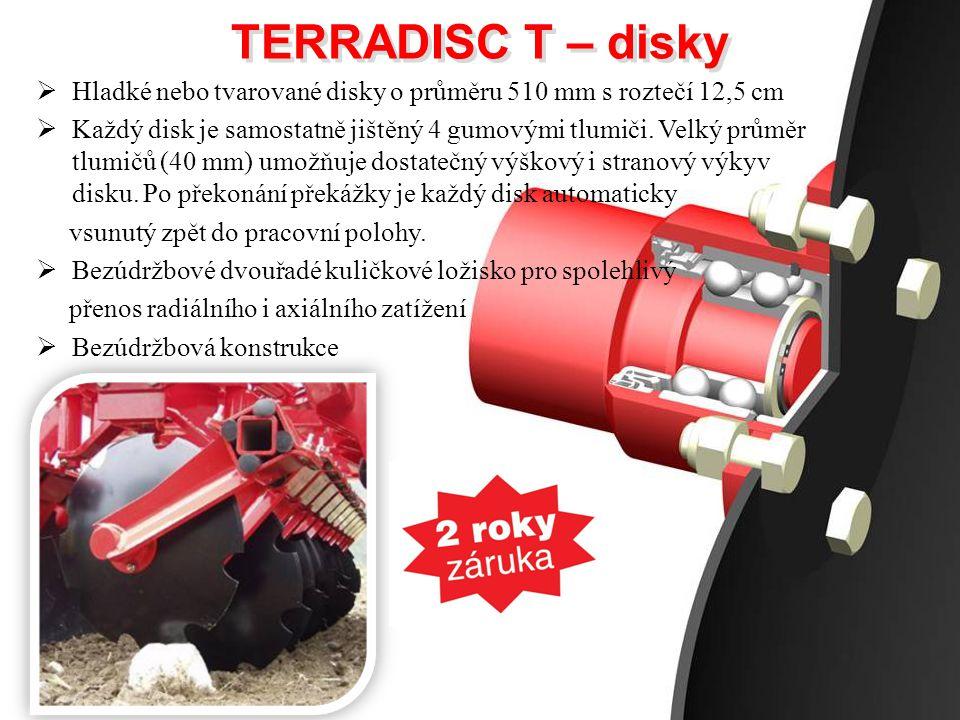 TERRADISC T – disky Hladké nebo tvarované disky o průměru 510 mm s roztečí 12,5 cm.