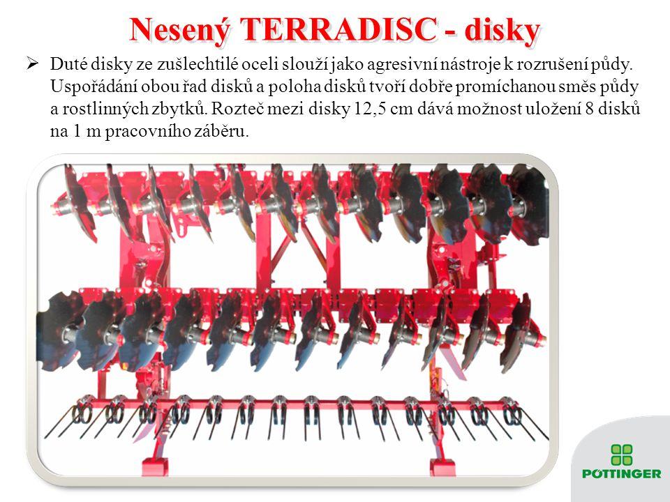Nesený TERRADISC - disky