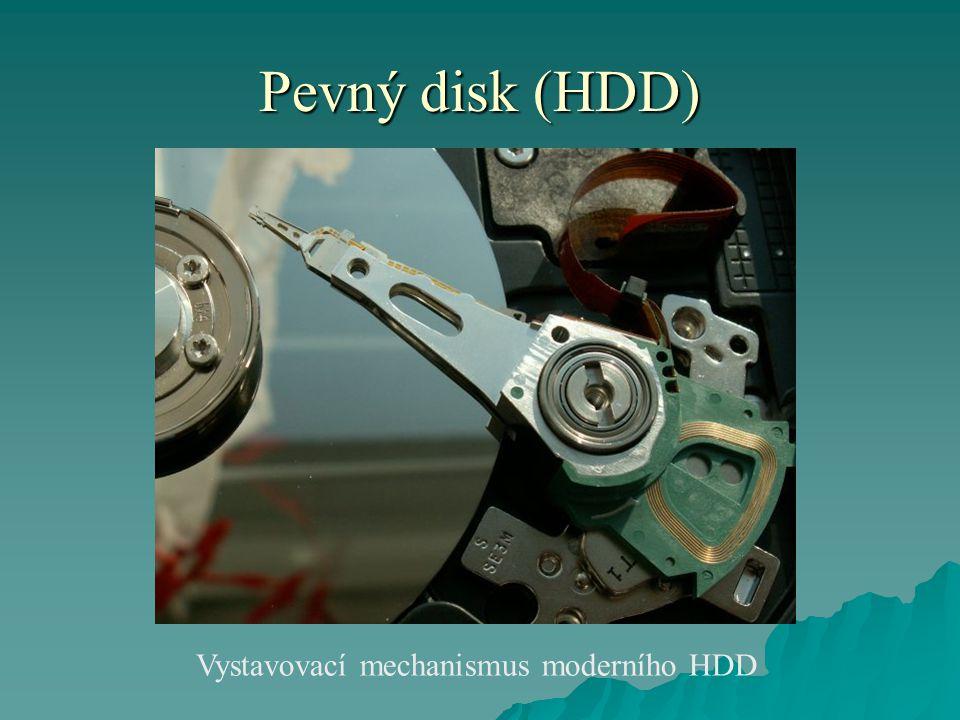 Vystavovací mechanismus moderního HDD