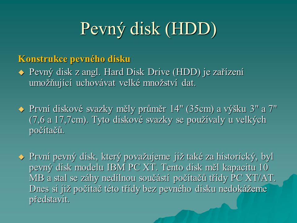 Pevný disk (HDD) Konstrukce pevného disku