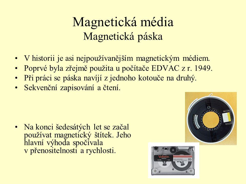 Magnetická média Magnetická páska