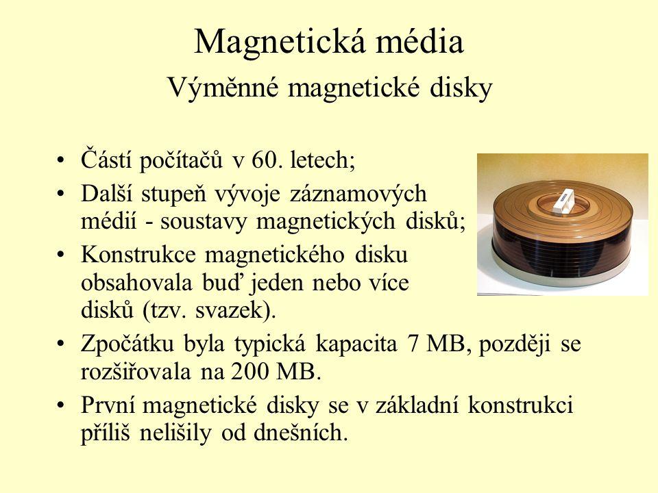 Magnetická média Výměnné magnetické disky