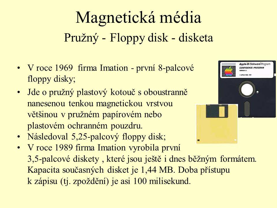Magnetická média Pružný - Floppy disk - disketa