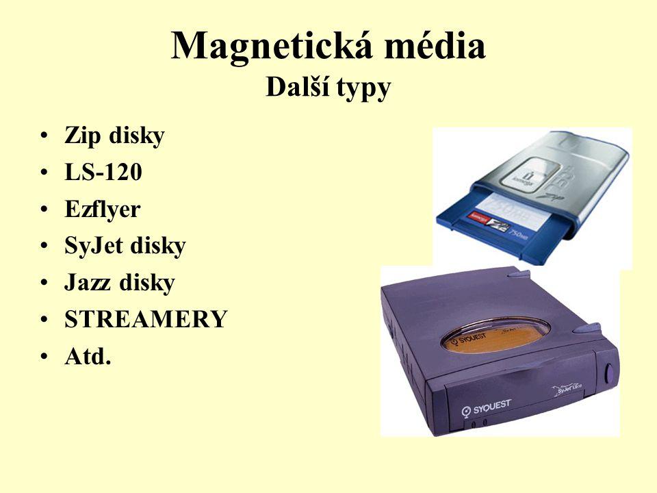 Magnetická média Další typy