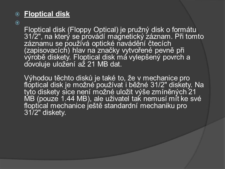 Floptical disk