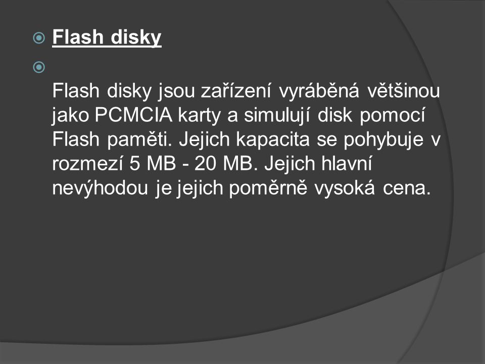 Flash disky