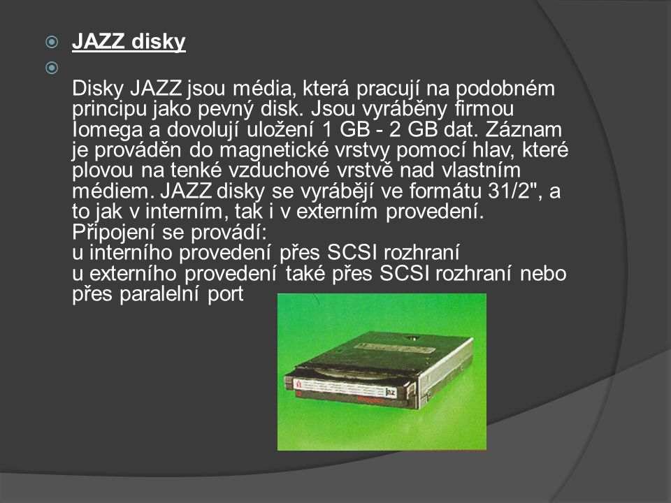 JAZZ disky