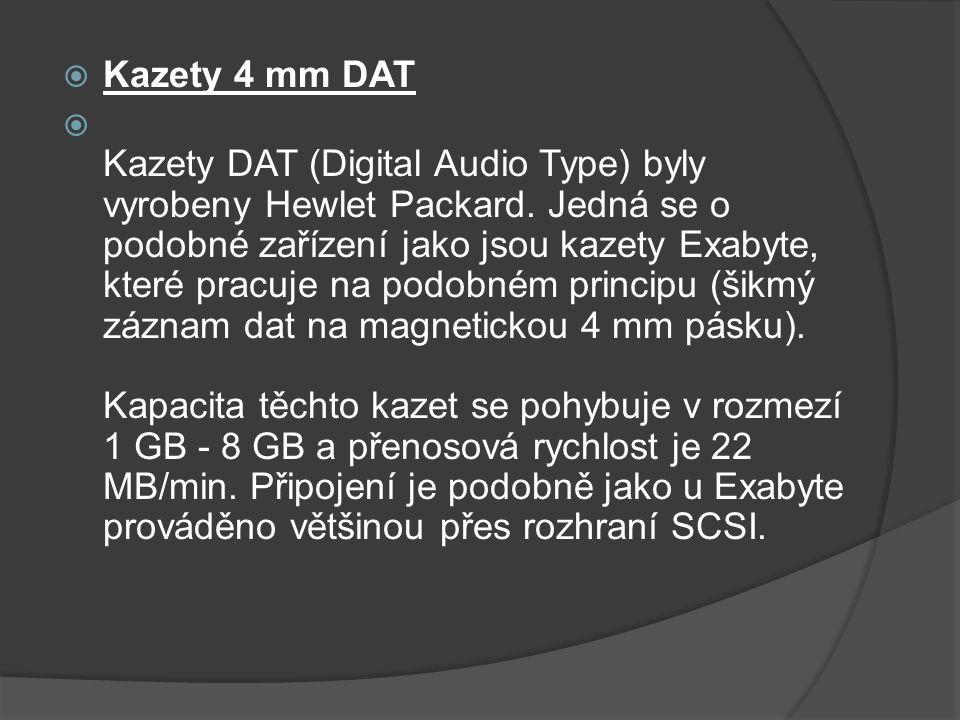 Kazety 4 mm DAT