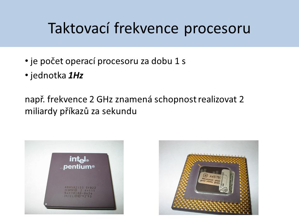Taktovací frekvence procesoru