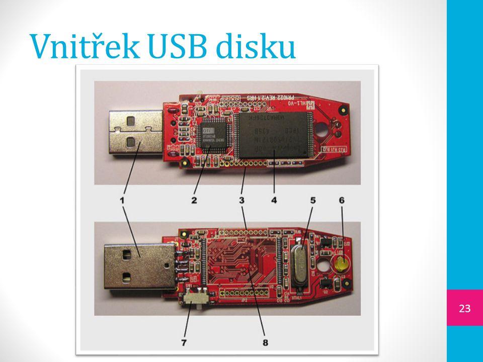 Vnitřek USB disku