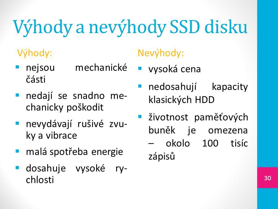 Výhody a nevýhody SSD disku