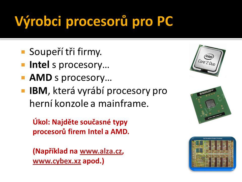 Výrobci procesorů pro PC