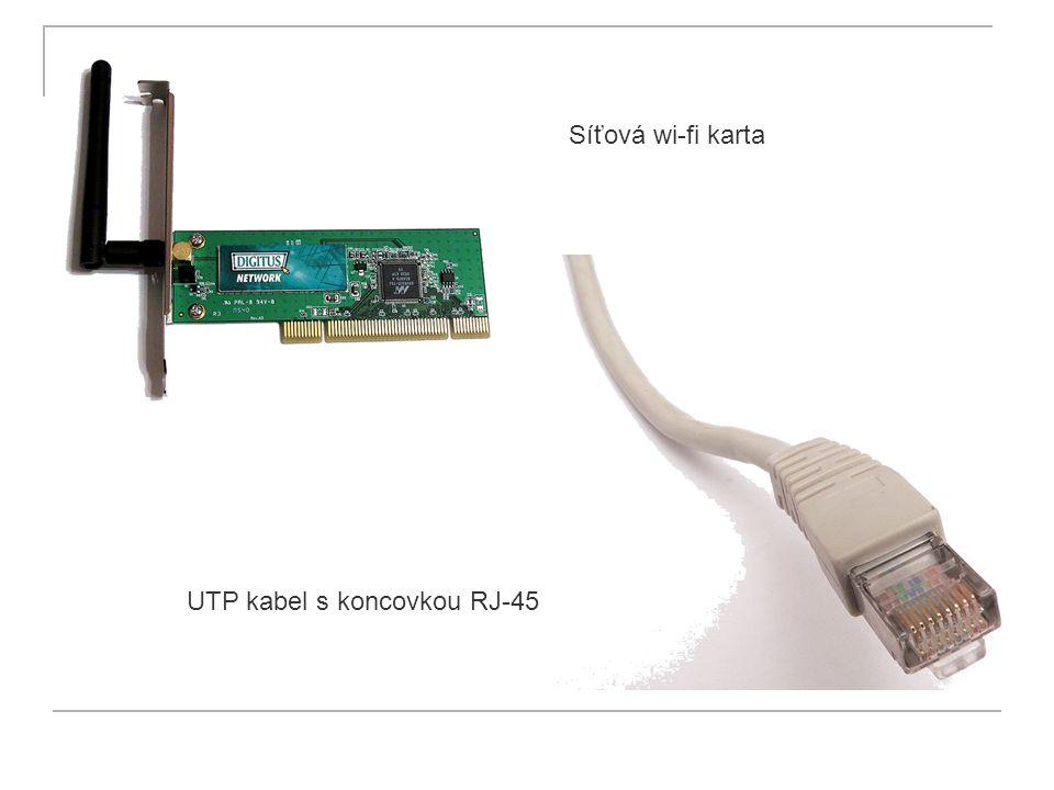 Síťová wi-fi karta UTP kabel s koncovkou RJ-45