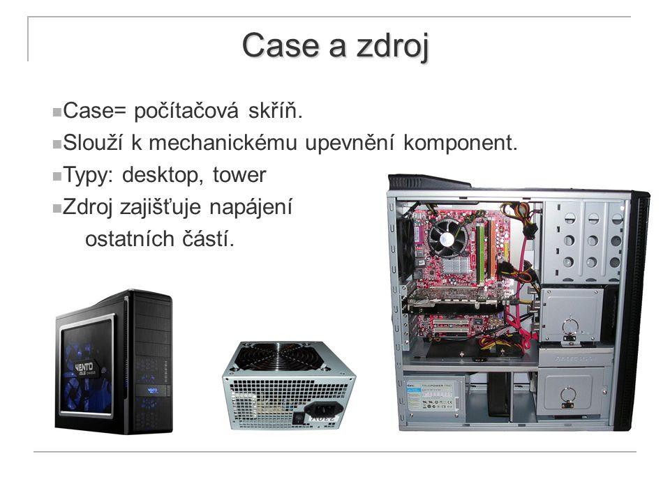 Case a zdroj Case= počítačová skříň.