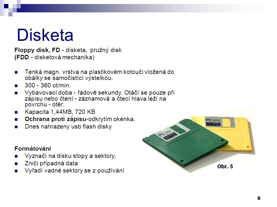 Disketa Floppy disk, FD - disketa, pružný disk