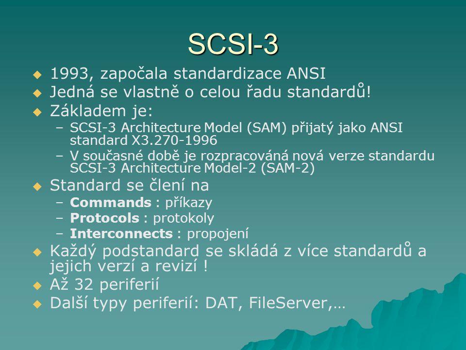 SCSI-3 1993, započala standardizace ANSI