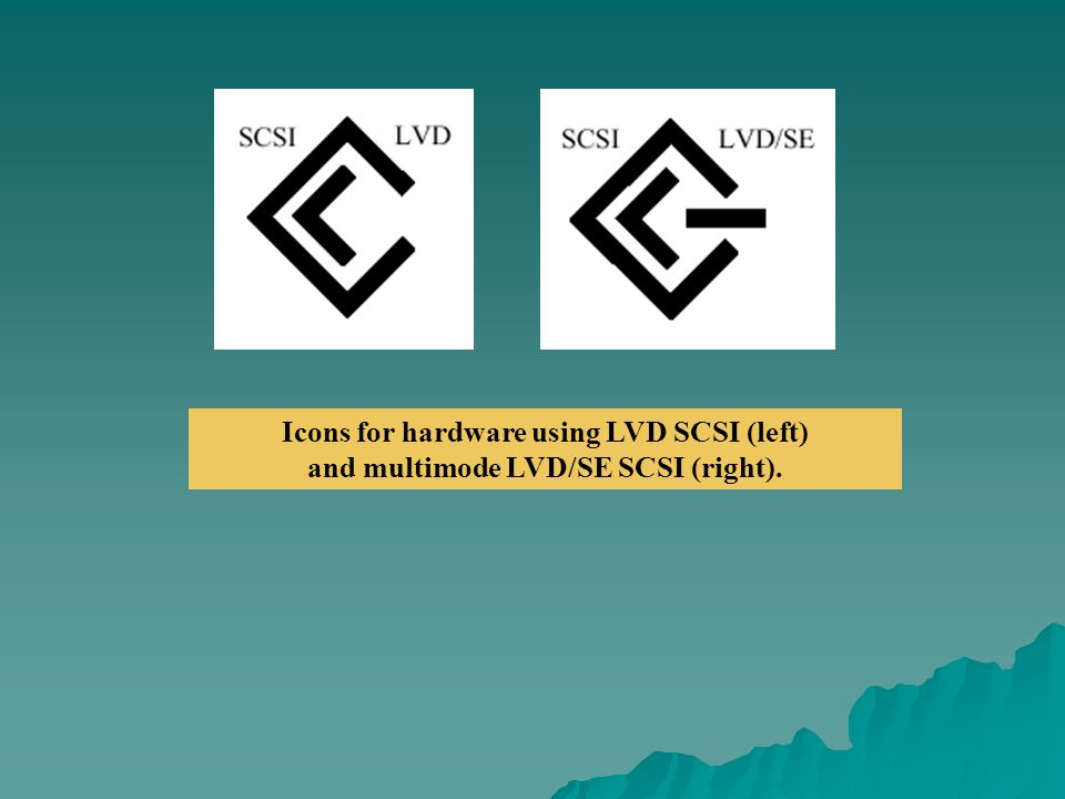 Icons for hardware using LVD SCSI (left)