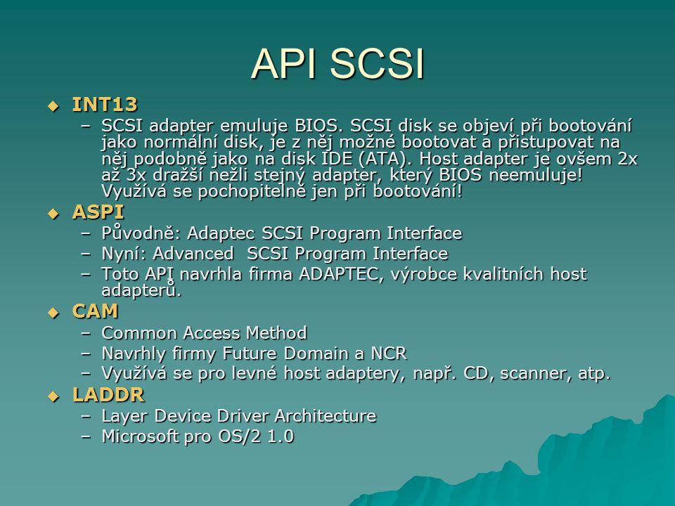API SCSI INT13 ASPI CAM LADDR