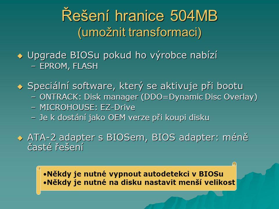 Řešení hranice 504MB (umožnit transformaci)