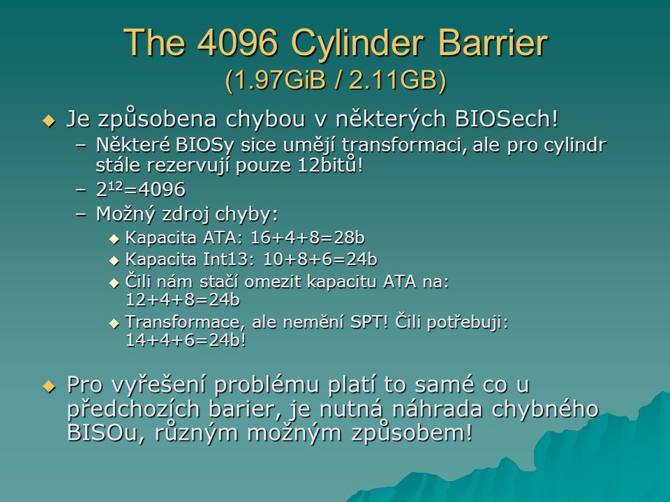 The 4096 Cylinder Barrier (1.97GiB / 2.11GB)
