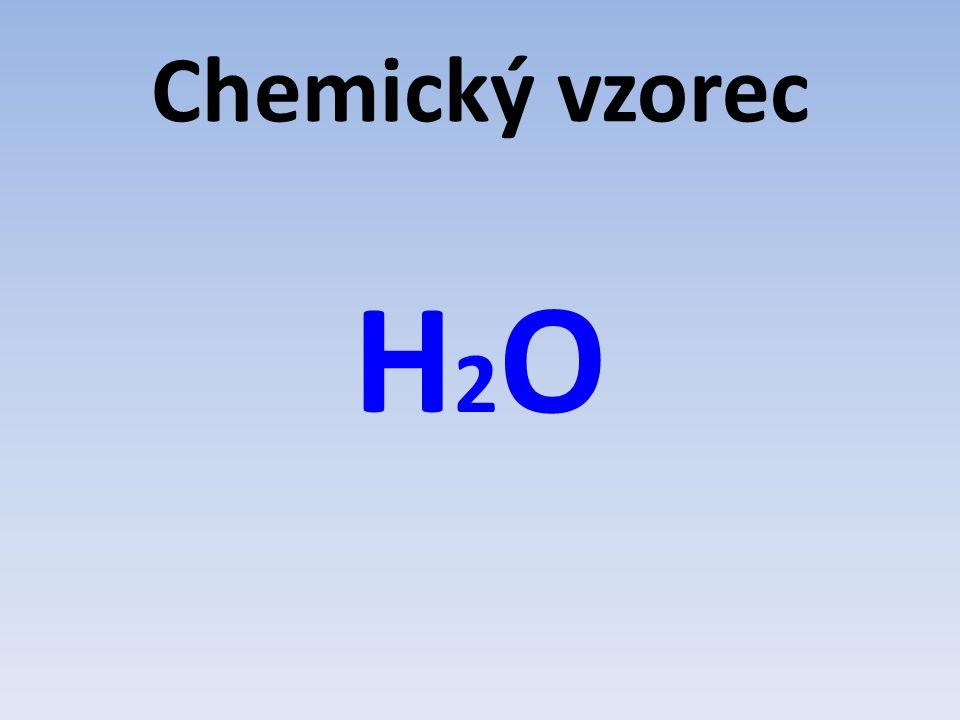Chemický vzorec H2O