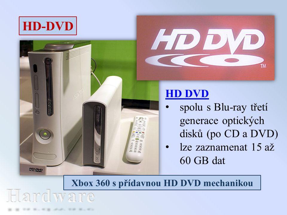 Xbox 360 s přídavnou HD DVD mechanikou