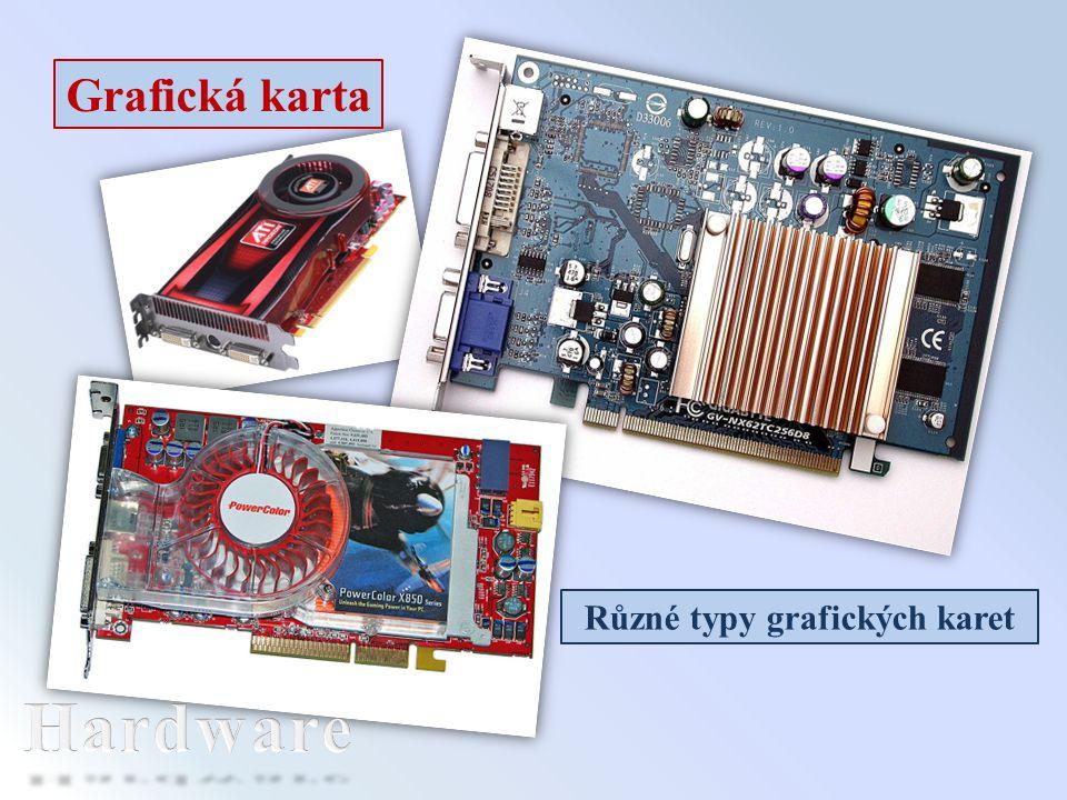 Různé typy grafických karet
