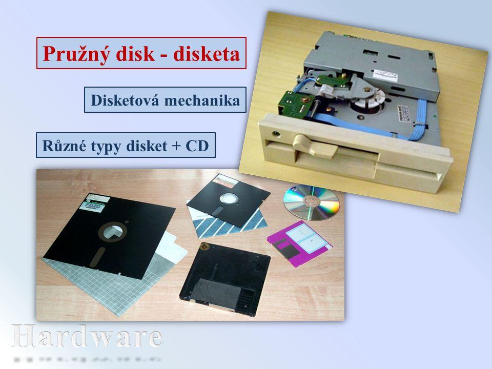 Hardware Pružný disk - disketa Disketová mechanika