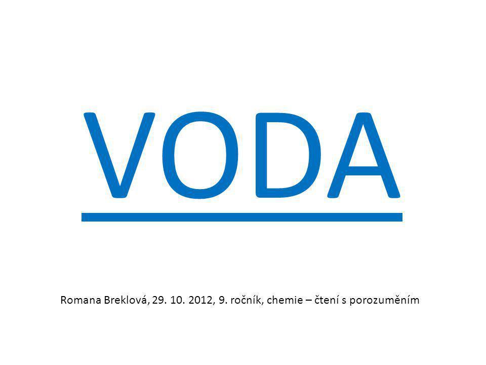 VODA Romana Breklová, 29. 10. 2012, 9. ročník, chemie – čtení s porozuměním