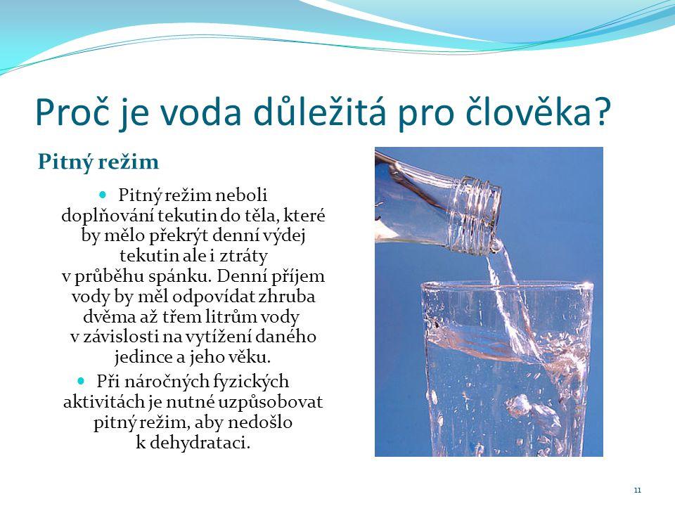 Proč je voda důležitá pro člověka