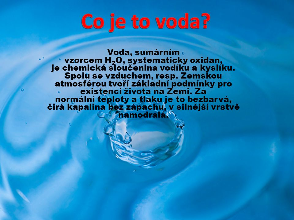 Co je to voda