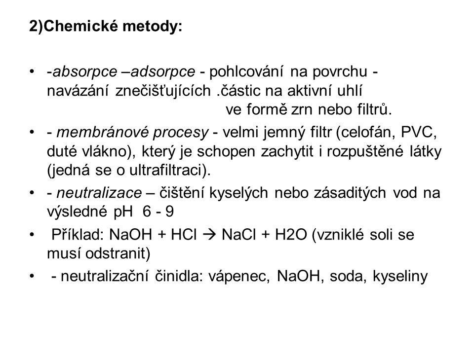 2)Chemické metody: