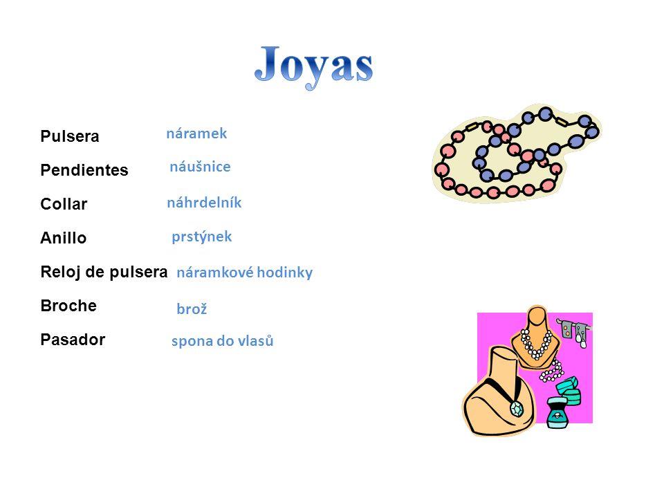 Joyas Pulsera náramek Pendientes Collar náušnice Anillo