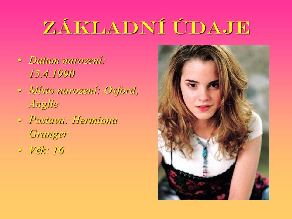Základní údaje Datum narození: 15.4.1990