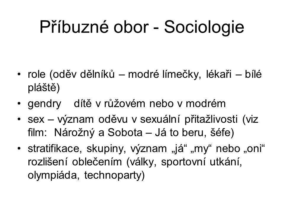 Příbuzné obor - Sociologie