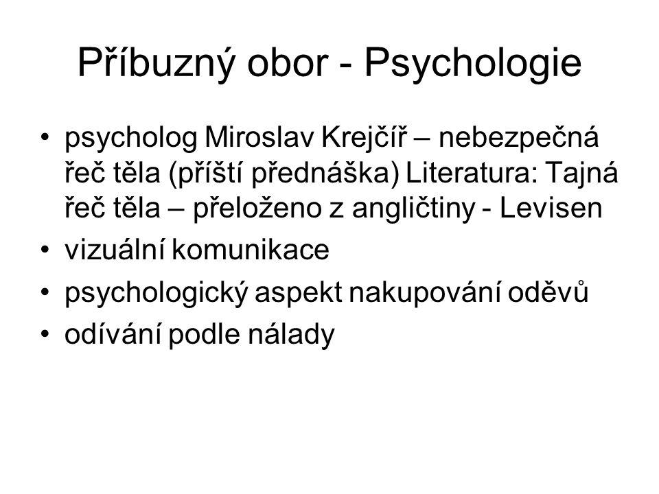 Příbuzný obor - Psychologie