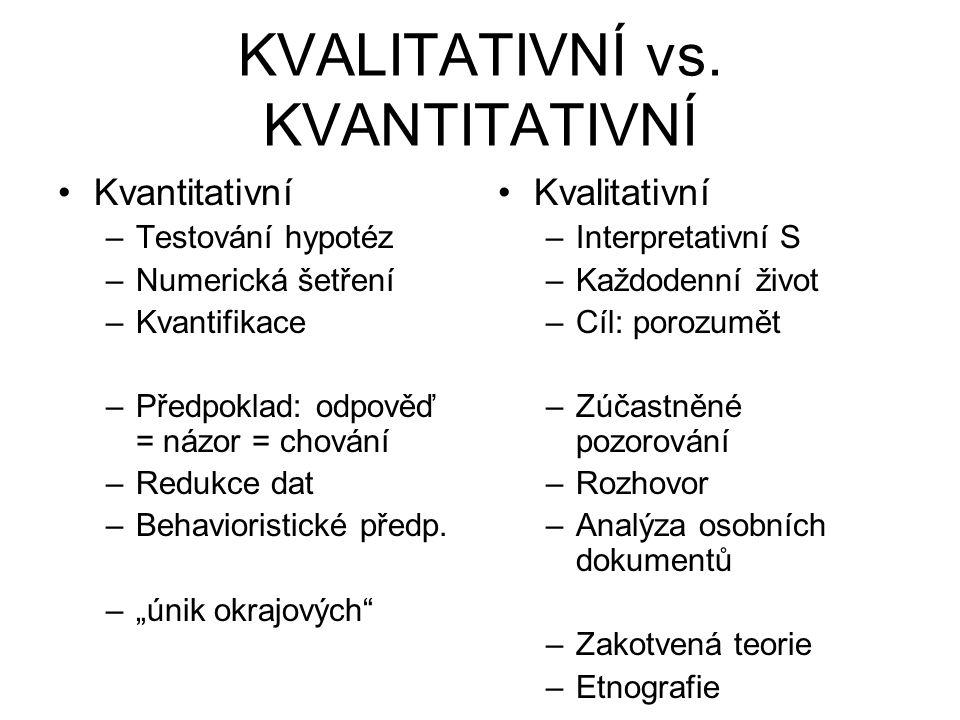 KVALITATIVNÍ vs. KVANTITATIVNÍ