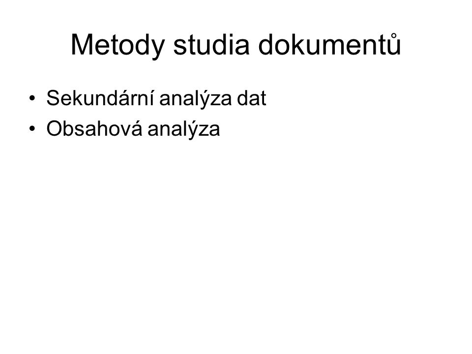 Metody studia dokumentů