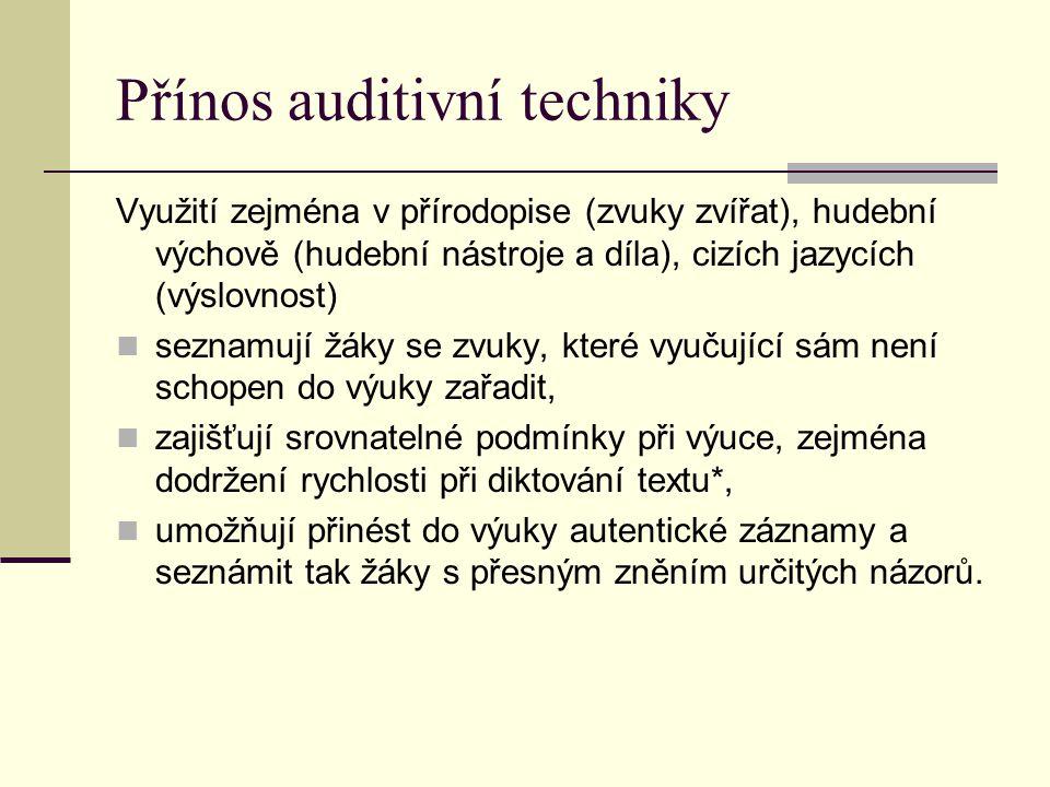 Přínos auditivní techniky