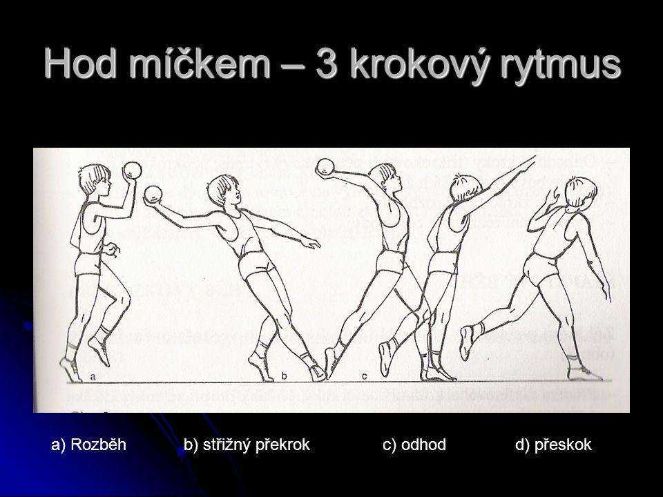 Hod míčkem – 3 krokový rytmus