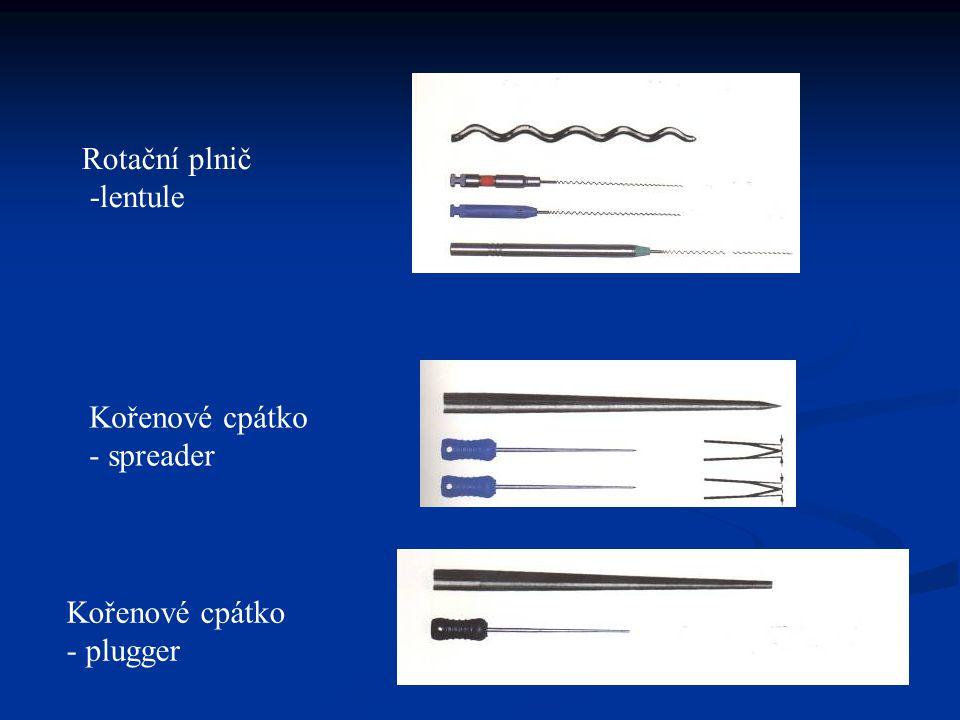 Rotační plnič -lentule Kořenové cpátko - spreader Kořenové cpátko - plugger