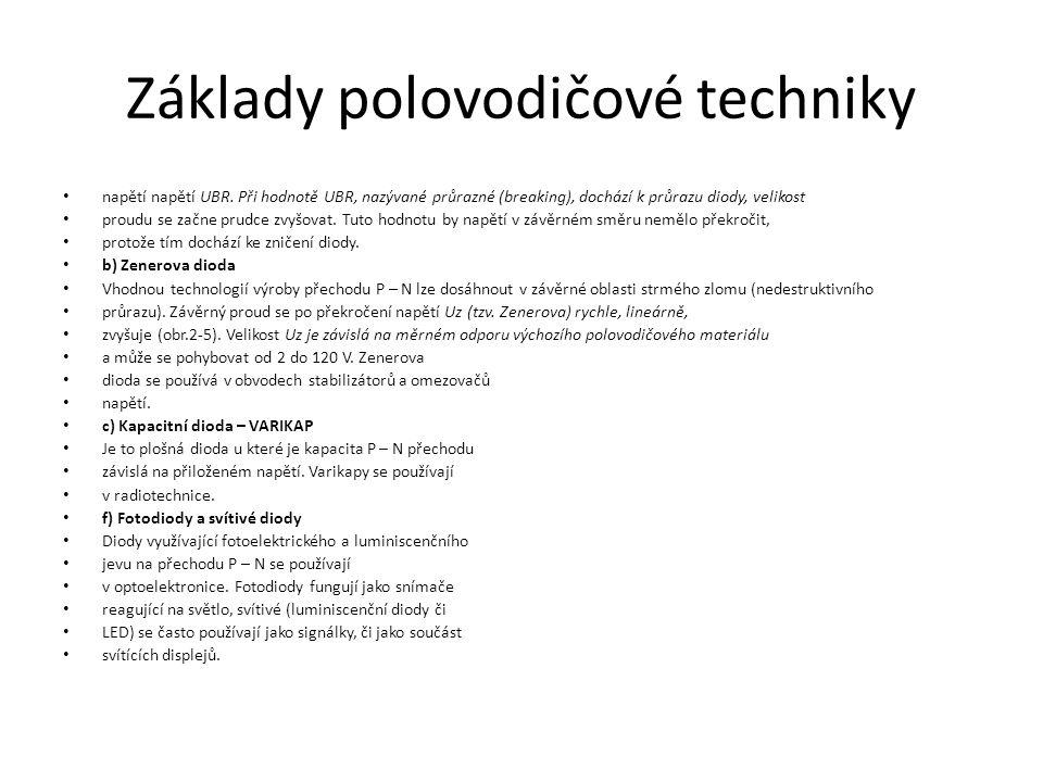 Základy polovodičové techniky