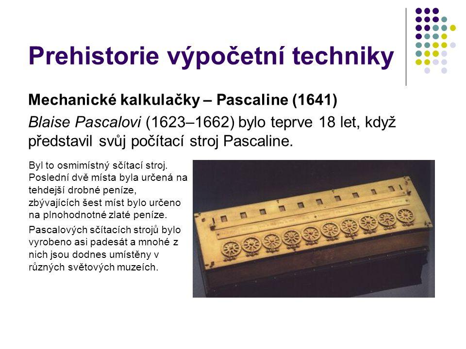 Prehistorie výpočetní techniky
