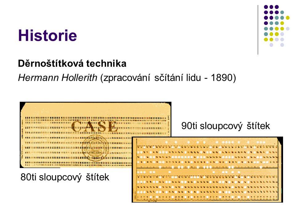 Historie Děrnoštítková technika